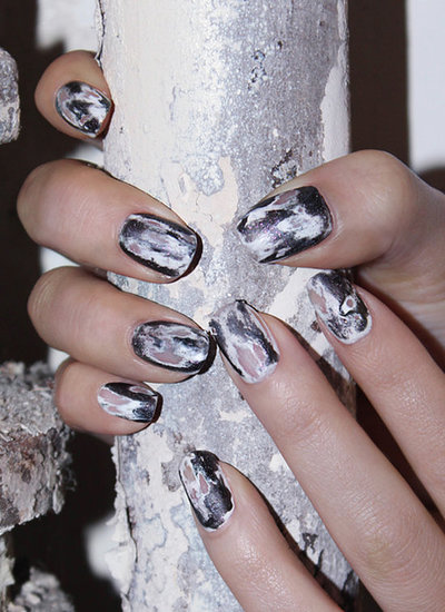 Jin Soon Choi created this edgy nail art look for Halloween, but we think our Google+ followers will be trying it for many other occasions.  Image courtesy of Jin Soon