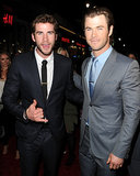 Chris Hemsworth had the support of his brother Liam at the LA premiere of Thor: The Dark World on Monday.