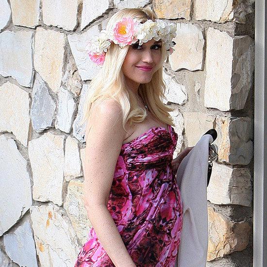 Gwen Stefani Wearing a Floral Dress to Friend's Baby Shower