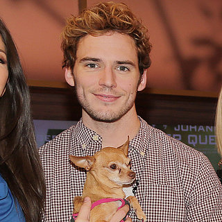 Sam Claflin With a Puppy