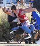 LeAnn Rimes shared some laughs on Saturday with her son Jake at his soccer game in LA.