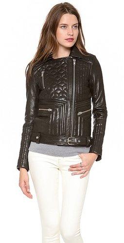 Iro Jonael Quilted Leather Moto Jacket