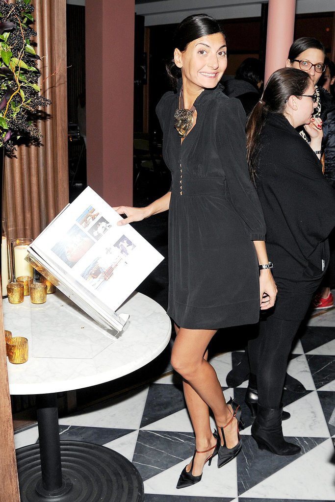 Giovanna Battaglia toasted to Private at Sant Ambroeus in New York.