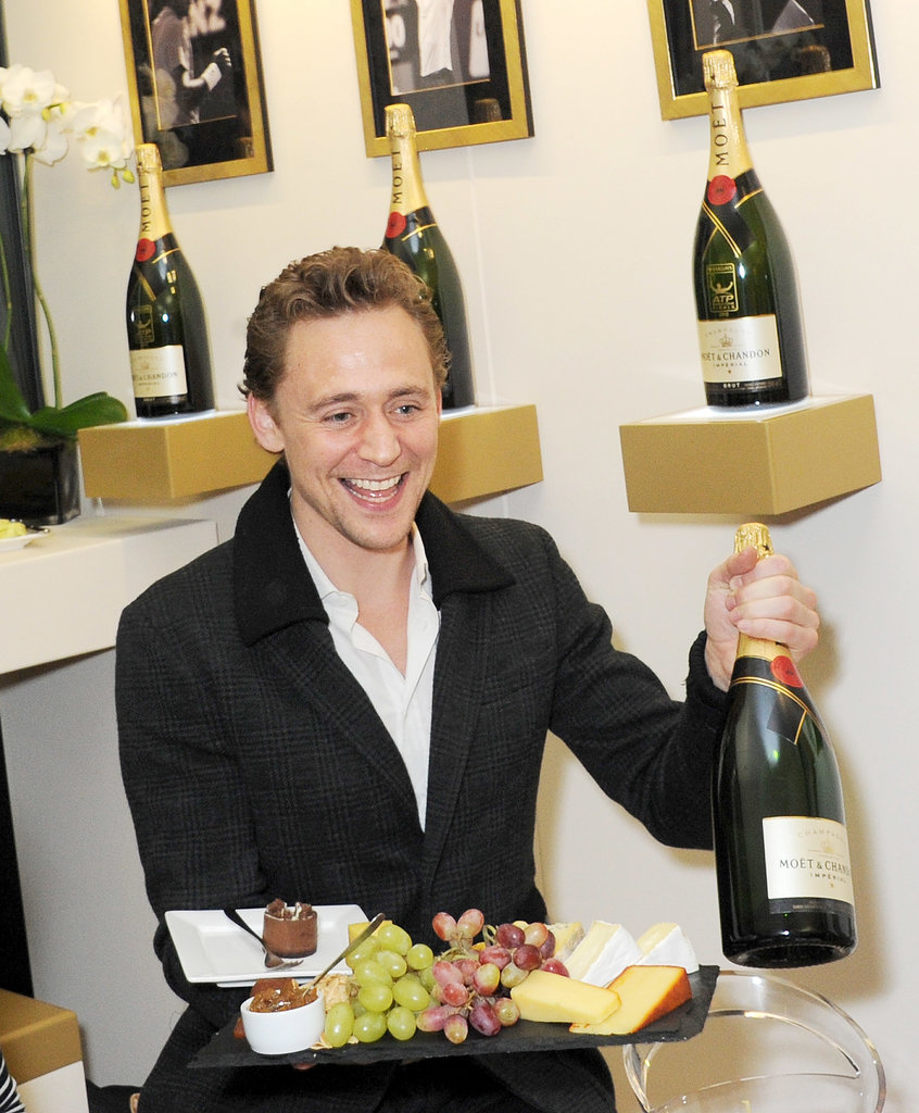 Tom Hiddleston got his drink on.