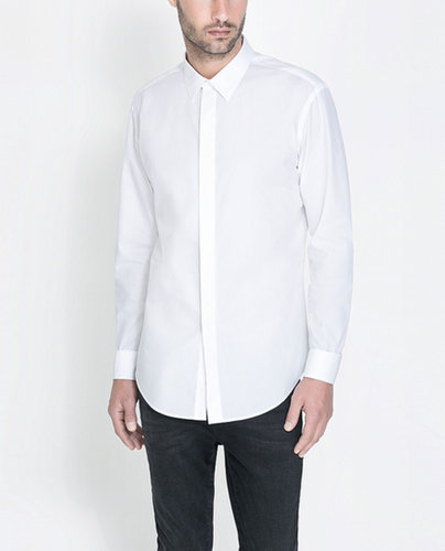 Poplin Shirt With Concealed Buttons