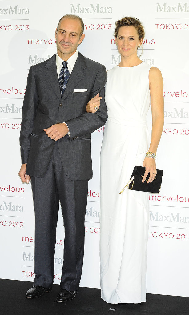 Jennifer Garner posed with Max Mara chairman Luigi Maramotti.
