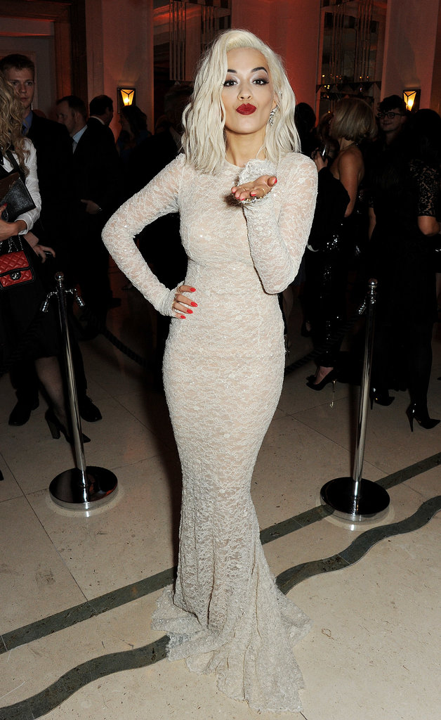 Rita Ora blew a kiss to the camera at the Harper's Bazaar Women of the Year Awards in London on Tuesday.