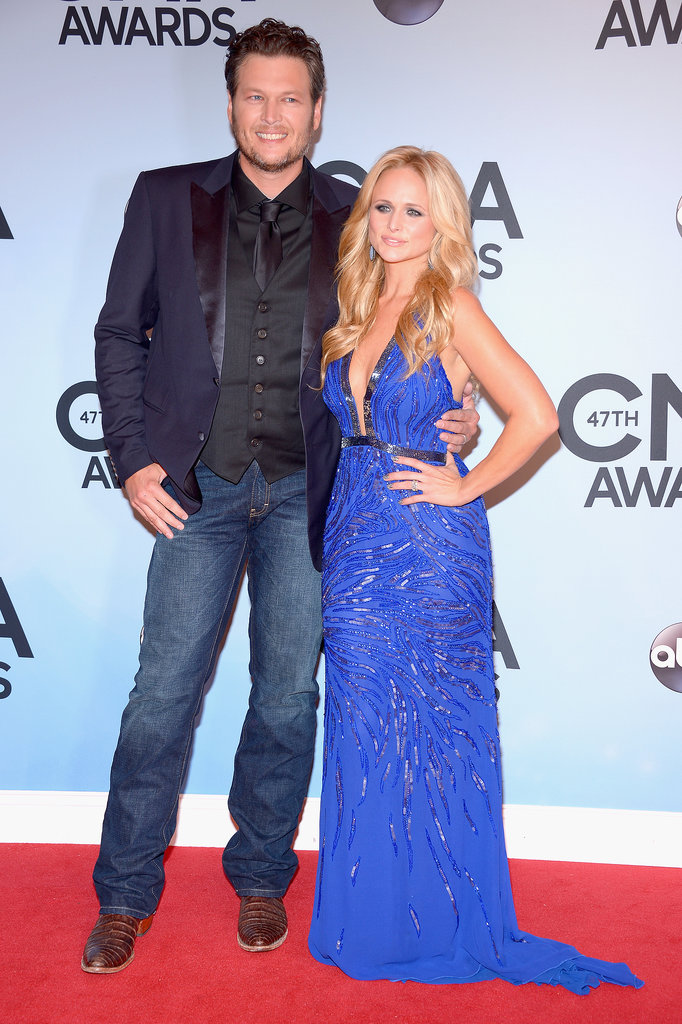 Miranda Lambert and Blake Shelton made a cute country couple at the CMAs.