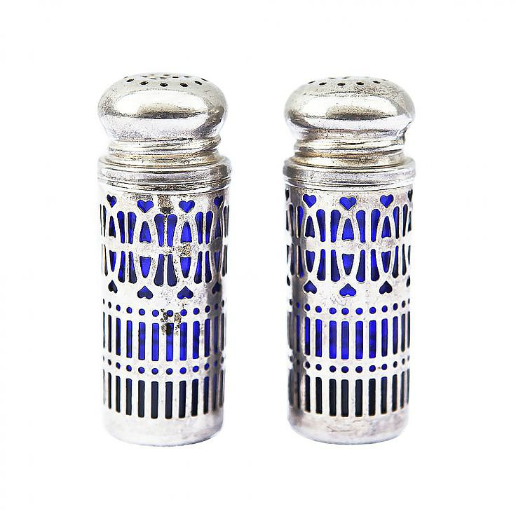 Give your hostess these vintage cobalt blue shakers ($35) as a unique, special gift.