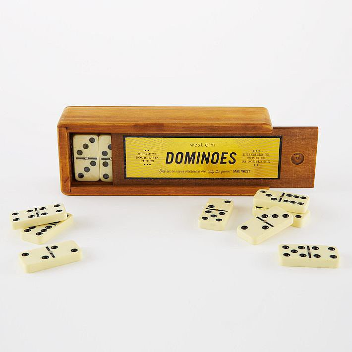These vintage-inspired wood Dominoes ($19) have a cool, old-school look — and offer the perfect after-dinner activity for the holidays.
