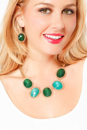 Glam Gem Necklace Set