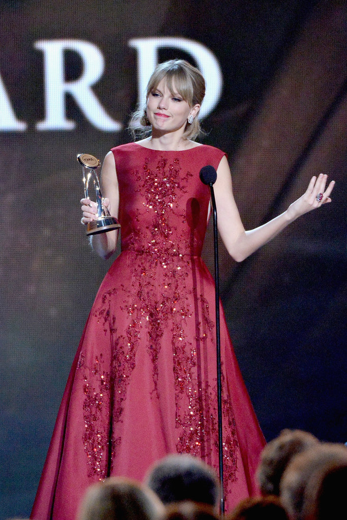 Taylor Swift accepted her pinnacle award.