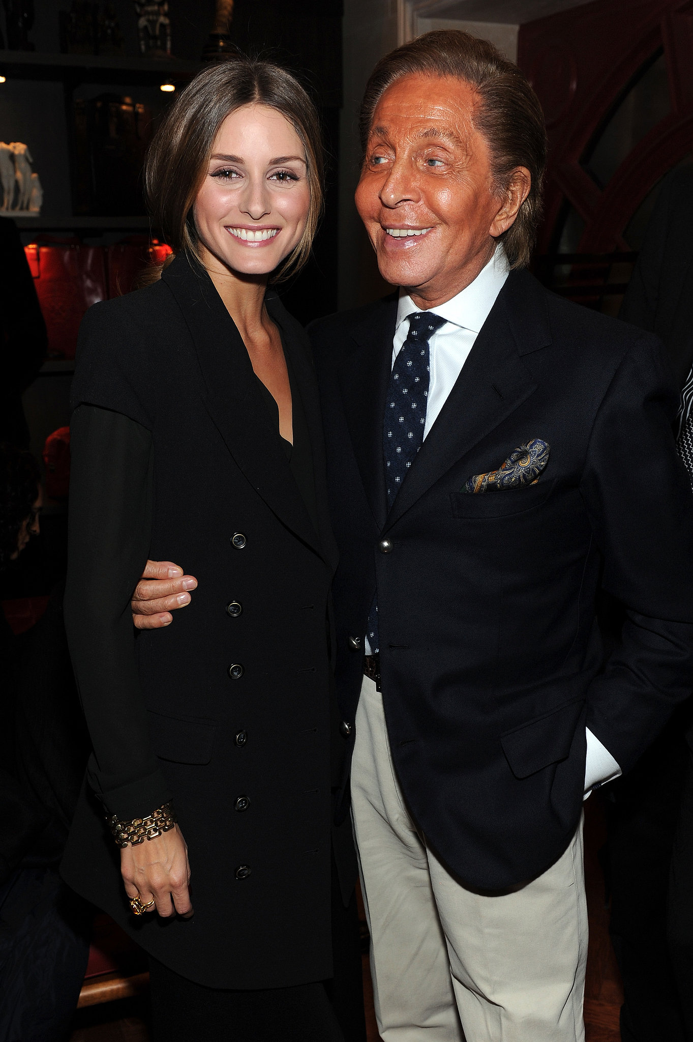 Olivia Palermo and Valentino Garavani feted the Private book party in New York.