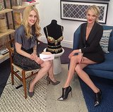 Candice Swanepoel sat down with POPSUGAR's Allie Merriam to promote the Victoria's Secret $10 Million Fantasy Bra. Source: Instagram user victoriassecret