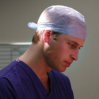 Prince William Wearing Scrubs in the Hospital