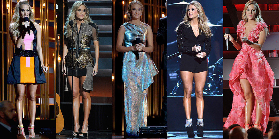 See All 9 of Carrie Underwood's CMAs Costume Changes!