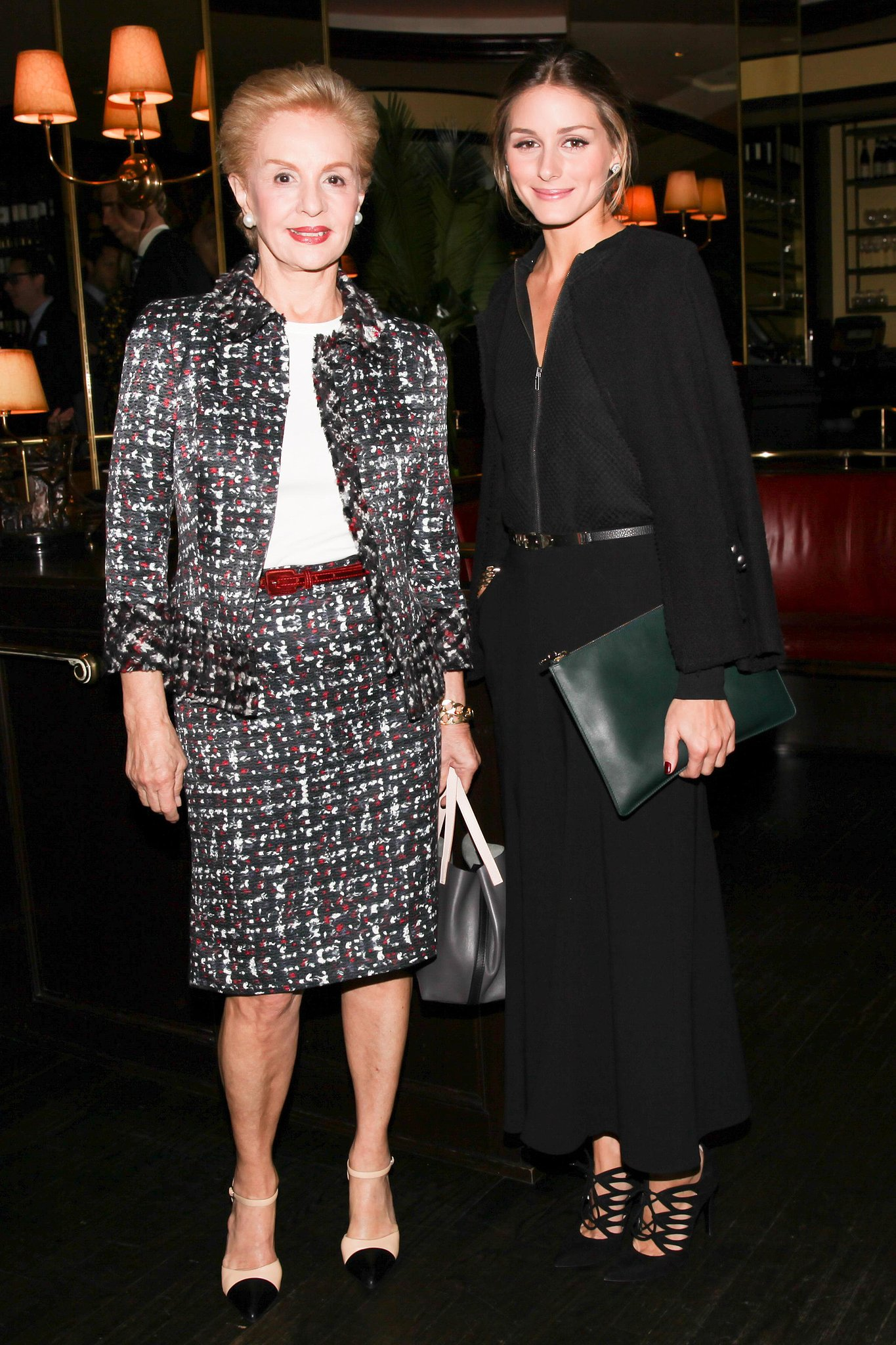 Carolina Herrera and Olivia Palermo made a chic duo at Vanity Fair's NYC dinner.