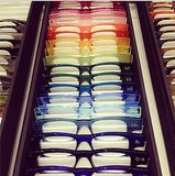 Cutler and Gross had a rainbow of frames for InStyle. Source: Instagram user instylemagazine