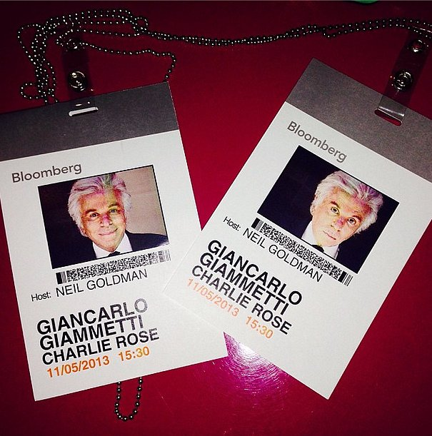 Giancarlo Giammetti readied for a chat with Charlie Rose. Source: Instagram user privategg