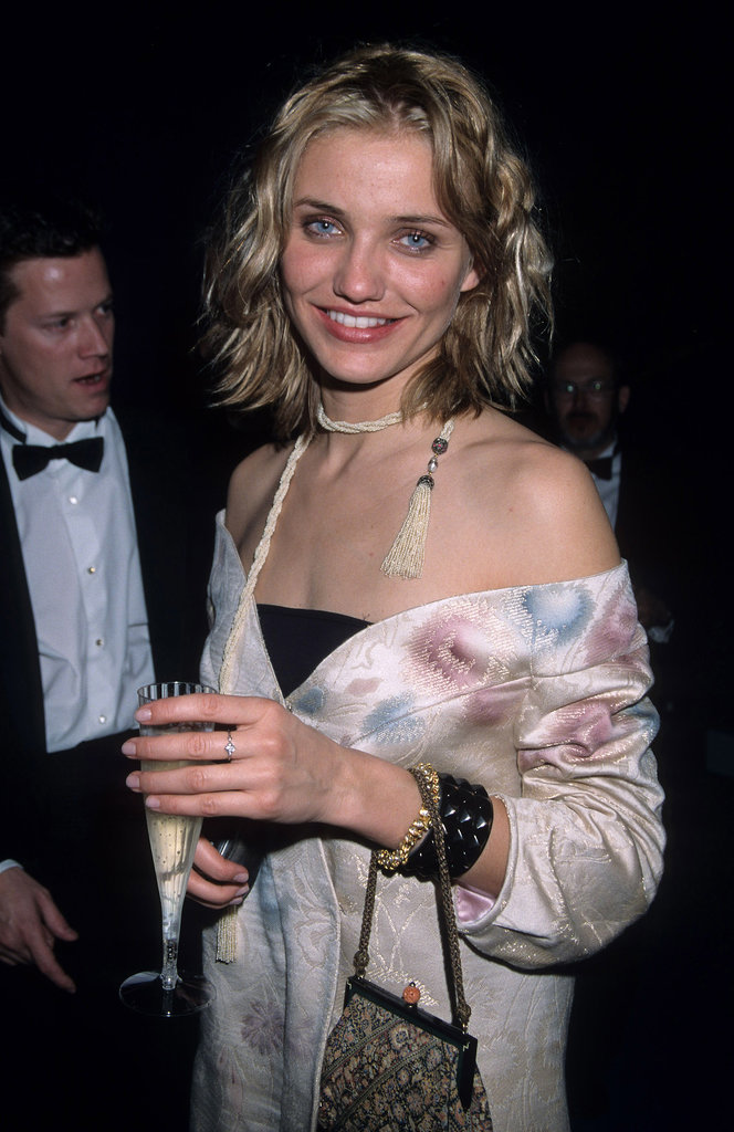 Cameron Diaz epitomized the grunge look of the '90s with her smudged gray shadow and mussed-up hair.