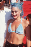 At the 1998 MTV Video Music Awards, Gwen Stefani was in her '90s glory with silver bindis and blue buns.
