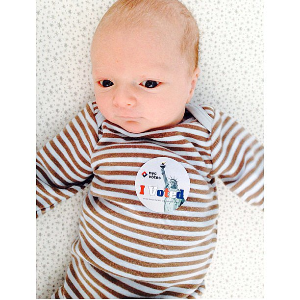 Ivanka Trump introduced her 3-week-old son, Joseph, to the democratic process on election day. Source: Instagram user ivankatrump