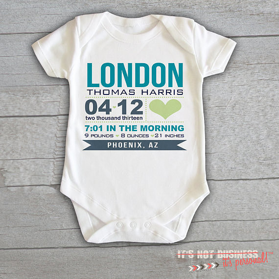 Baby Onesie Birth Announcement