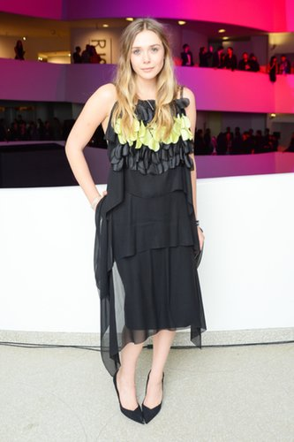 Elizabeth Olsen in Dior Haute Couture Cocktail Dress