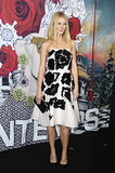 Gwyneth Paltrow wore a black-and-white frock.