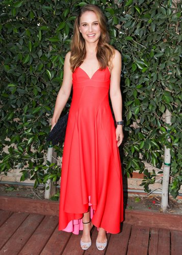 Natalie Portman in Red Dior Dress