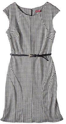 Merona® Women's Ponte Houndstooth Dress - Black/White