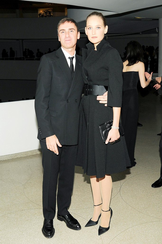 Leelee Sobieski joined Raf Simons at Dior at the Guggenheim International Gala.
