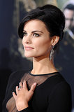 A beehive updo allowed Jaimie Alexander to show off her oversize earrings.