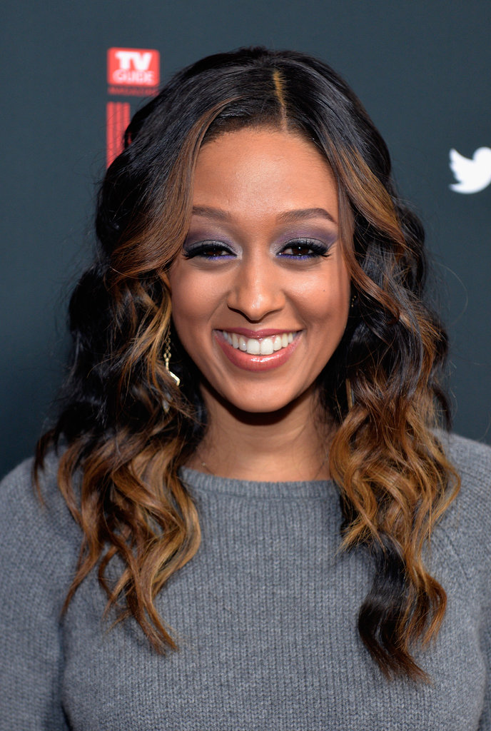 Not all smoky eyes are created equal, and Tia Mowry's gray and purple eye makeup made us stop and stare.