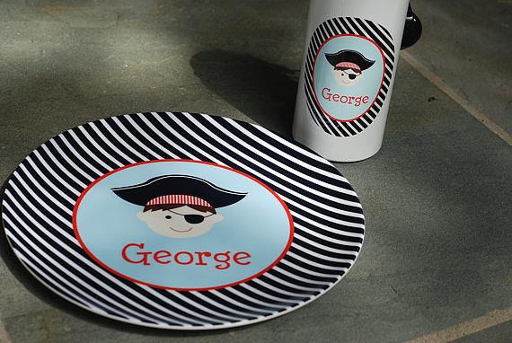 Libbie & Winston Pirate Melamine Plate