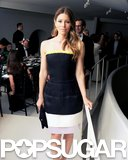 Jessica Biel posed for photos inside the Guggenheim International Gala.