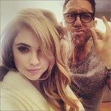 Ashley Benson and Chris McMillan had some fun with her hair. Source: Instagram user itsashbenzo