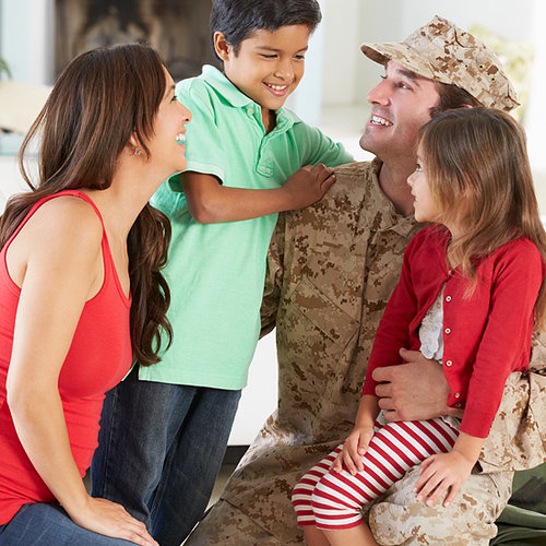 Soldiers Surprise Their Children