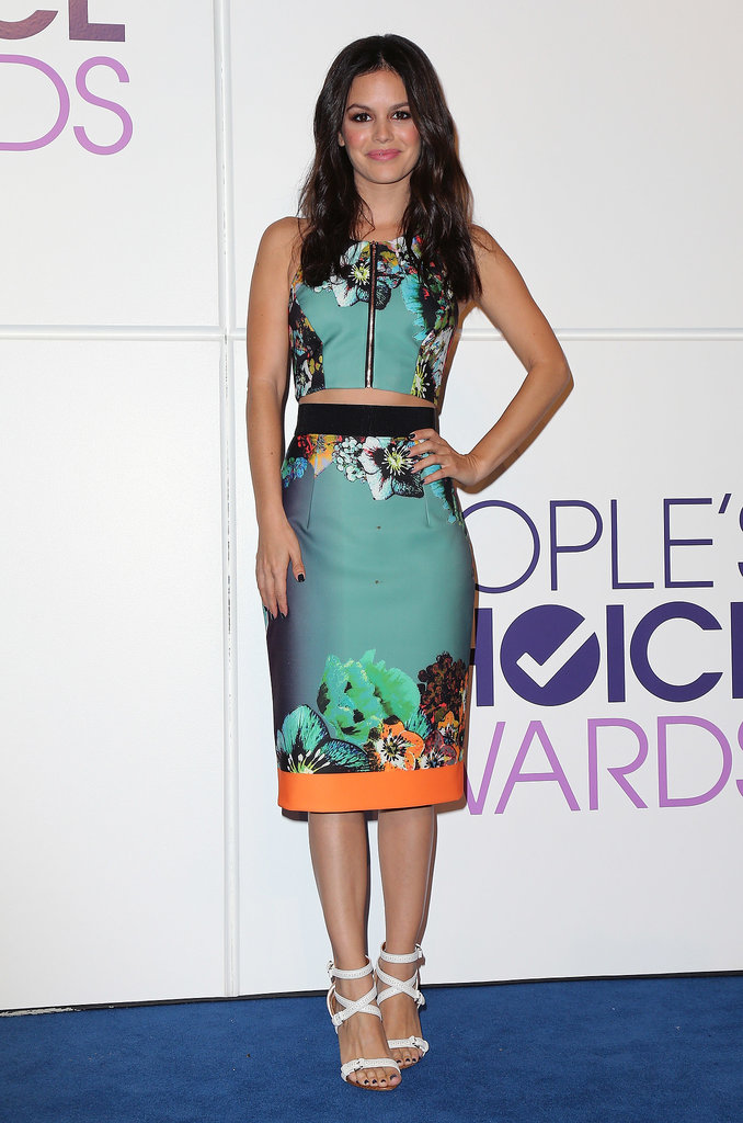 Rachel Bilson's Milly print was another stunner. Mixing vibrant hues and a sliver of skin, the actress delivered award-winning style at the People's Choice nominations announcement.