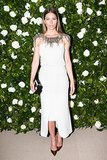 Jessica Biel joined Chanel in the label's dynamic LWD — a design so dramatic that no jewelry was required to complete it!