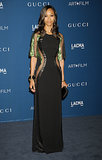 Rather than cutouts, Zoe Saldana went sheer in a Gucci number at the LACMA Art + Film Gala. The results were equally sexy.