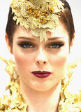 Coco Rocha's Beauty Look at 2013 Crown Oaks Day
