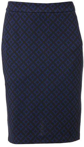 Dana buchman geometric ponte pencil skirt