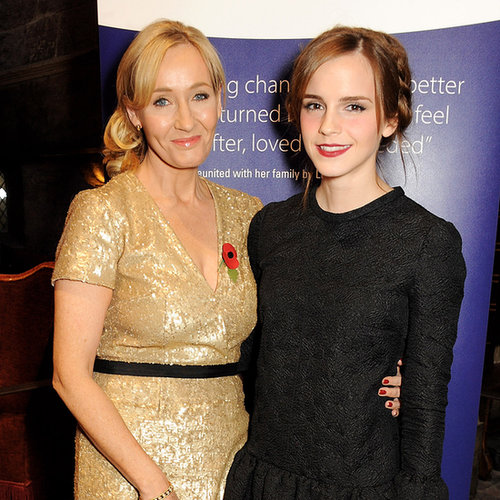 Emma Watson With J.K. Rowling at Lumos Event in London
