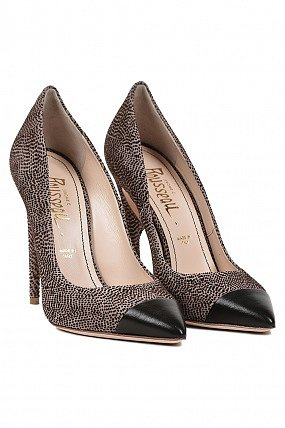 Jerome Rousseau Flicker Cap Toe Spotted Heel Natural