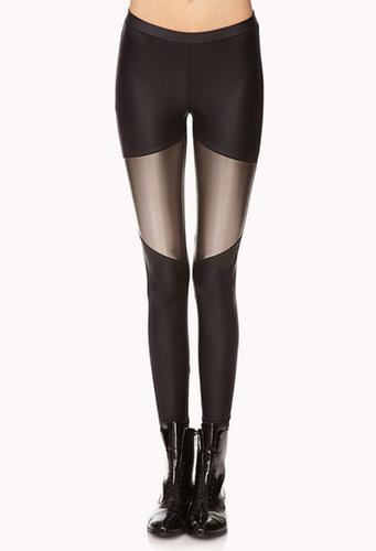 FOREVER 21 Forever Cool Paneled Leggings