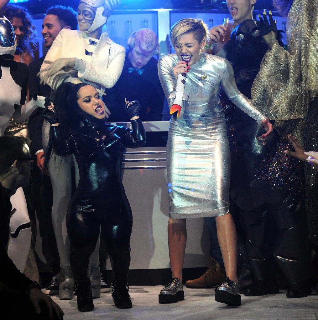 "Miley Cyrus performed ""We Can't Stop."""
