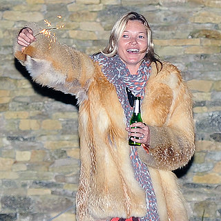 Kate Moss With Fireworks in London