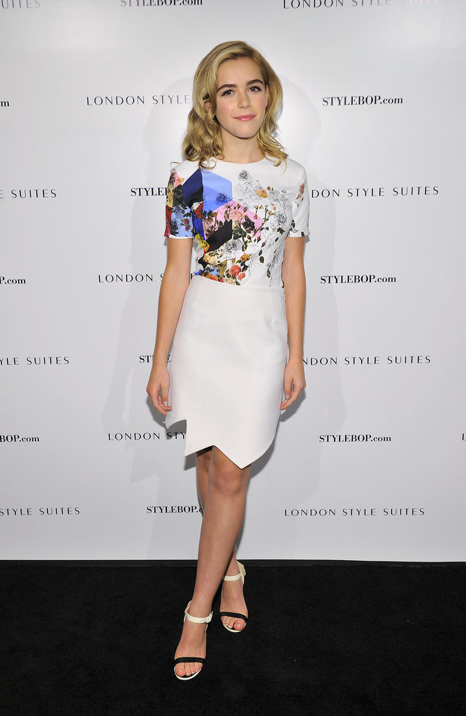 Kiernan Shipka in Preen by Thornton Bregazzi at The British Fashion Council and Stylebop.com's celebration of the London Style Suites.