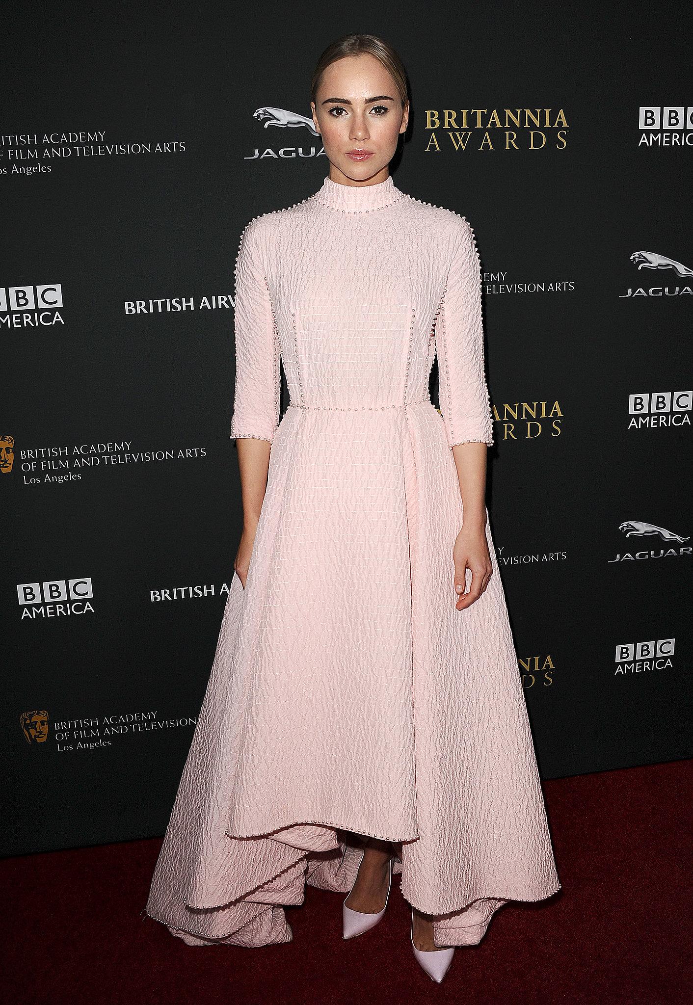 Suki Waterhouse at the BAFTA Britannia Awards.
